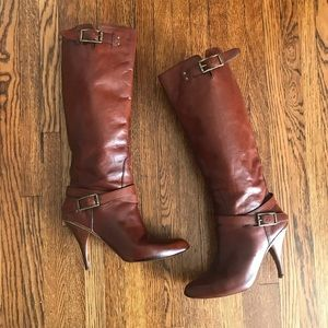 Cole Haan Nike Air Tall Chestnut Brown Boots